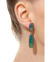 Sanjay Kasliwal - Blue Indorussian Opal Drop Earrings - Lyst