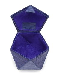 Nancy Gonzalez - Blue Hexagon Crocodile Clutch - Lyst