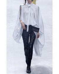 Haider Ackermann - White Contrast Hem Silk Caftan - Lyst