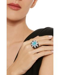 Arunashi - Black One-of-a-kind Paraiba And Mother Of Pearl Ring - Lyst