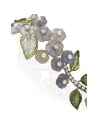 Irene Neuwirth - Purple One-of-a-kind 18k Gold Carved Chalcedony And Tourmaline Bracelet - Lyst
