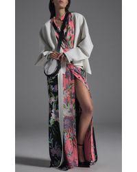 Diane von Furstenberg | White Relaxed Wrap Front Jacket | Lyst