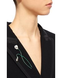 Luz Camino - Green White Violet Brooch - Lyst