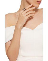 Nancy Newberg - Black Oxidized Silver Diamond Cage Ring - Lyst