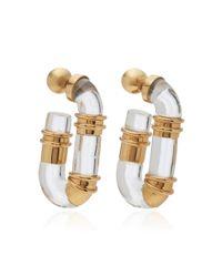 Ellery - Metallic Shane Resin Tube Earrings - Lyst