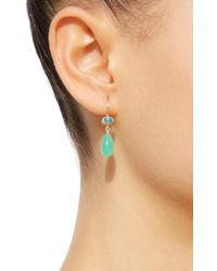 Mallary Marks - Green Apple & Eve Blue Zircon Earrings - Lyst