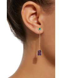 Yi Collection | Purple 18k Gold Emerald And Amethyst Earrings | Lyst
