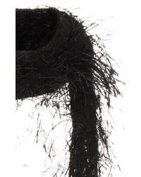 Rodarte - Hand Knit Black Eyelash Scarf - Lyst