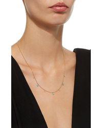 Zoe Chicco - Metallic Turquoise And Diamond Dangle Necklace - Lyst