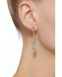 Georg Jensen - Short Vivianna Dew Drop Earrings With Blue Topaz - Lyst