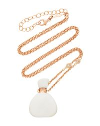Jacquie Aiche - Small Triangle White Agate Potion Bottle Necklace - Lyst