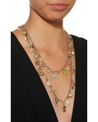 Renee Lewis - Metallic Antique Diamond And Gemstone Charms Necklace - Lyst
