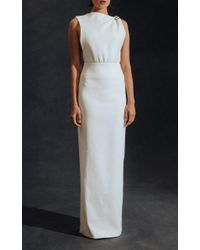 Hensely - White Asymmetric Buckle Gown - Lyst