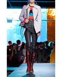 Diane von Furstenberg - Blue High Waisted Zip Front Jean - Lyst