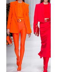 Versace - Orange Scoop Back Swimsuit - Lyst