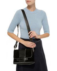 Michino Paris - Black Phedra Suede Messenger Bag - Lyst