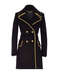 Burberry - Black Double Breasted Military Cashmere Coat - Lyst