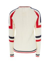 Perfect Moment - White Tignes Striped Cable-knit Wool Sweater for Men - Lyst