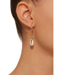 Isabel Marant - Metallic Malebo Gold-tone, Bead And Shell Hoop Drop Earrings - Lyst