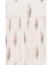 Vilshenko - Multicolor Trudy Floating Roses Long Skirt - Lyst