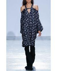 Ellery - Blue Floral Twill Aramis Dress - Lyst