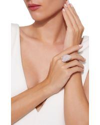 Kimberly Mcdonald - Pink One-of-a-kind Agate Ring With Diamonds Set In 18k White Gold - Lyst