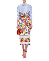 Stella Jean - White Ricamatore Skirt - Lyst