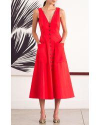 Saloni - Red Zoey Dress - Lyst