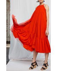 WHIT - Red Poppy Dress - Lyst