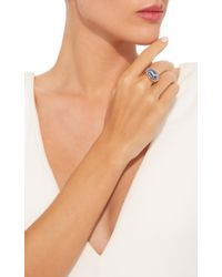 Sylva & Cie - Blue Agate Horse Cameo Ring - Lyst