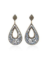 Sanjay Kasliwal - Metallic 14k Gold, Silver, Moonstone And Diamond Earrings - Lyst