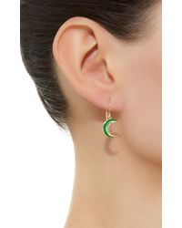 Andrea Fohrman - Green Crescent Emerald Earrings - Lyst