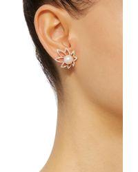 Yvonne Léon - Metallic 18k Gold Pearl And Diamond Earring - Lyst