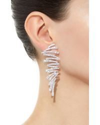 Hueb - Labyrinth White Gold And Diamond Earrings - Lyst