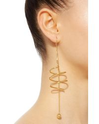 Ellery - Metallic Solitude Spiral Coil Earrings With Ball And Chain - Lyst