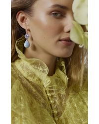 Irene Neuwirth - One-of-a-kind 18k Rose Gold Carved Chalcedony And Blue Opal Drop Earrings - Lyst