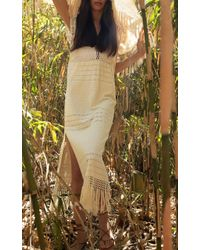 Jaline - White Bianca Handwoven Cotton Midi Dress - Lyst
