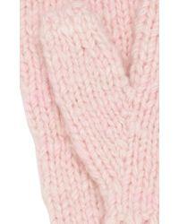 The Elder Statesman - Pink Cashmere Mittens - Lyst