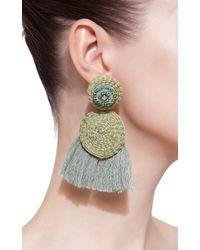 Johanna Ortiz - Green M'o Exclusive Nairobi Fringe Earrings - Lyst