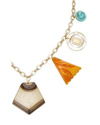 Lulu Frost | Metallic M'o Exclusive Vintage Czech Charm Necklace | Lyst