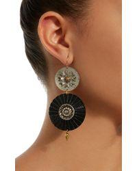 Lulu Frost - Black M'o Exclusive Vintage Steel Button Earrings - Lyst