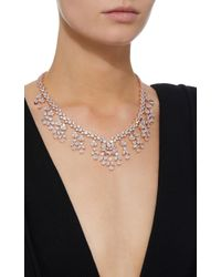 Fallon - Metallic Monarch Weeping Fern Metal And Crystal Necklace - Lyst
