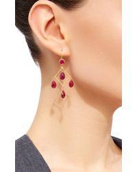 Sanjay Kasliwal - Red Ruby Chandelier Earrings - Lyst