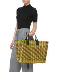 Truss - Yellow Large Tote With Leather Handles - Lyst