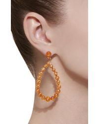 Nina Runsdorf - Orange M'o Exclusive Spessartite Bead Frontal Hoop Earrings - Lyst