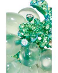 Arunashi - Metallic Titanium Prenite Grape Ring - Lyst
