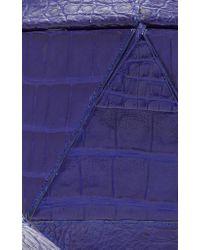 Nancy Gonzalez - Blue Hexagon Crocodile Clutch - Lyst