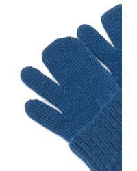 Maison Margiela - Blue Argyle Arm Warmers - Lyst