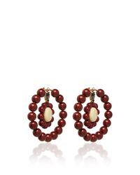 Marni - Red Earrings With Resin - Lyst