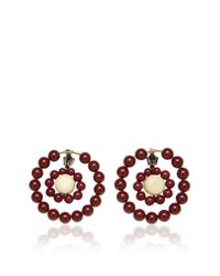 Marni | Red Earrings With Resin | Lyst